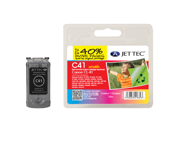 Remanufactured Canon CL-41 CMY Colour