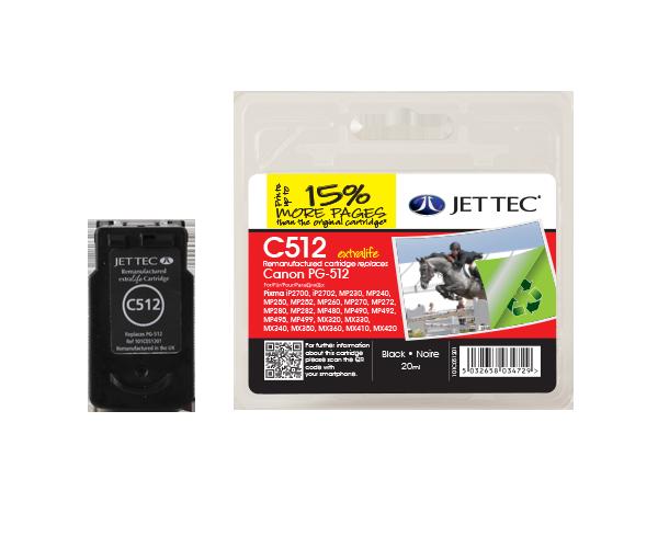 Remanufactured Canon PG-512 Black