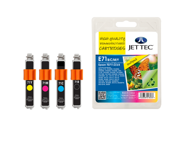 Remanufactured Epson T0715 BCMY Multipack