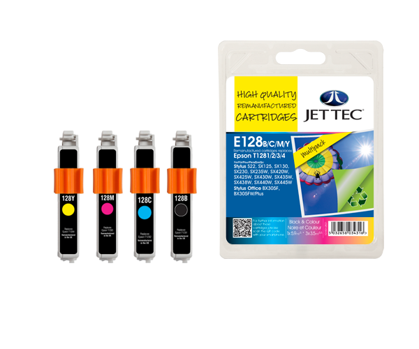 Remanufactured Epson T1281/2/3/4 BCMY Multipack