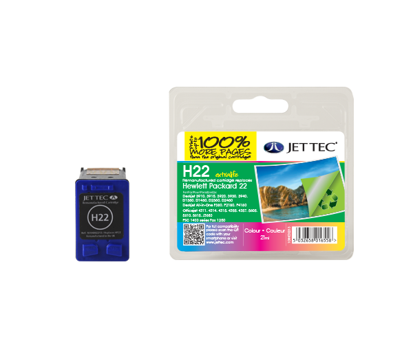 Remanufactured HP22 (C9352AE) CMY Colour