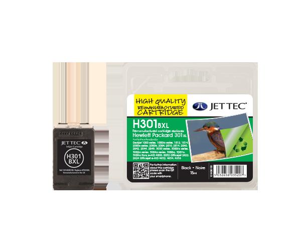 Remanufactured HP 301 BXL Black High Capacity