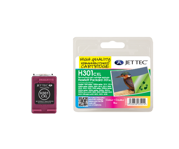 Remanufactured HP301C XL High Capacity CMY Colour