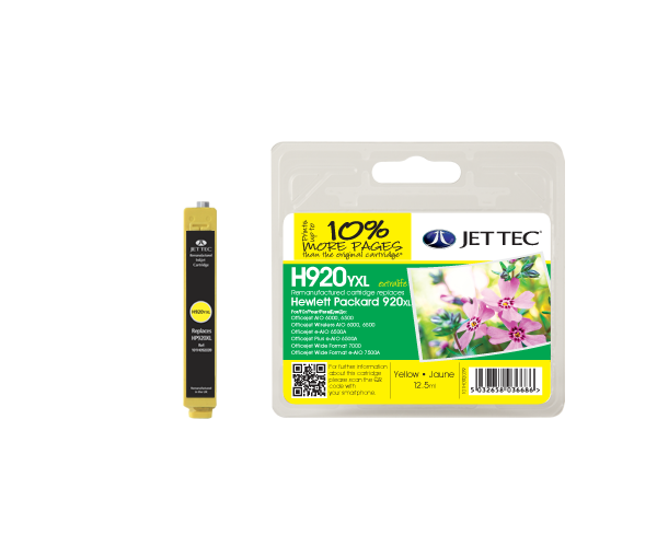 Remanufactured HP920XL  CD974AE Yellow